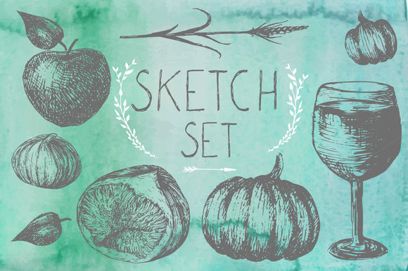 Sketch Autumn Set by Eisfrei is available from CreativeMarket for $4.