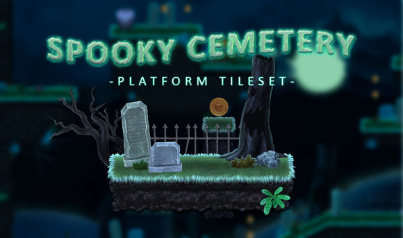 Spooky Cemetery by SimirkGraphics is available from CreativeMarket for $15.