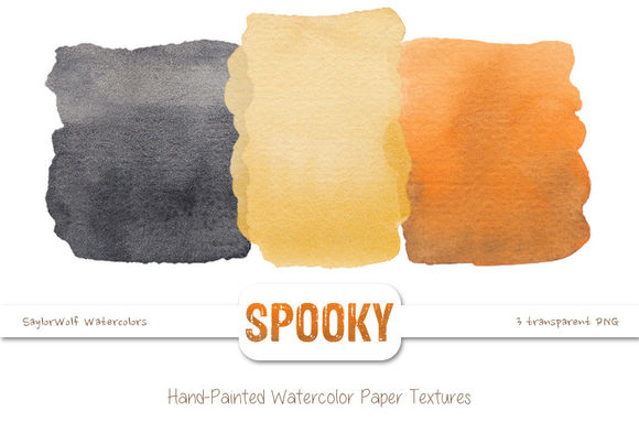 Spooky Colors Watercolor Textures by SaylorWolfWatercolors is available from CreativeMarket for $3.