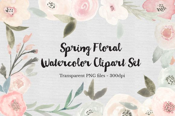 Spring Floral Watercolor Clipart Set by TheAutumnRabbit is available from CreativeMarket for $15.