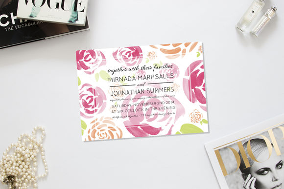 Spring Fling Wedding Invitation by AllyJCreative is available from CreativeMarket for $10.