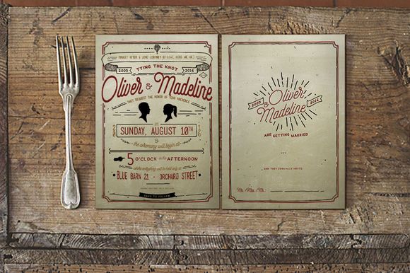 Vintage Hand Lettering Invitation by KlapauciusCo is available from CreativeMarket for $10.
