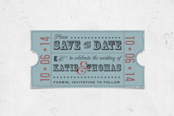 Vintage Save The Date Card by MyCreativeLand is available from CreativeMarket for $3.