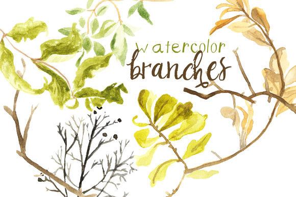 Watercolor Fall Branches by DigitalPressCreation is available from CreativeMarket for $16.