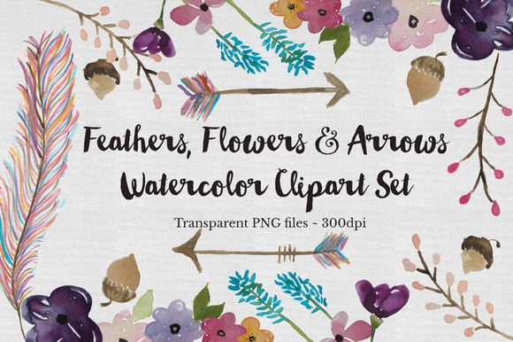 Watercolor Feather by TheAutumnRabbit is available from CreativeMarket for $15.