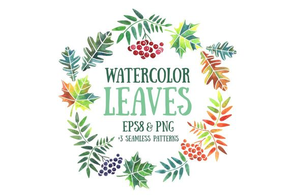 Watercolor Leaves by LunaSolvo is available from CreativeMarket for $6.