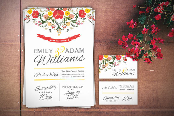 Wedding Invitation by DesignLux is available from CreativeMarket for $9.