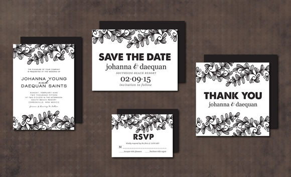 Wedding Invitation Suite Doodle by Aticnomar is available from CreativeMarket for $15.