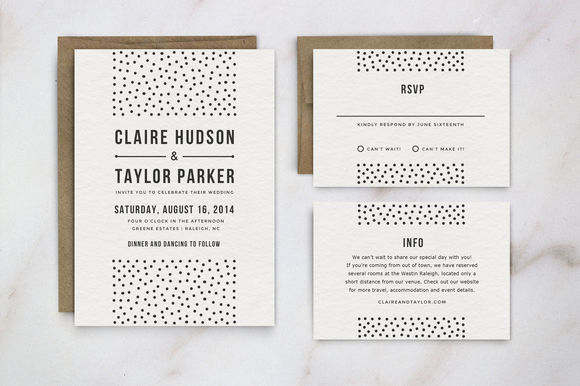 Wedding Invitation Template Suite by HitchPaperCo. is available from CreativeMarket for $16.