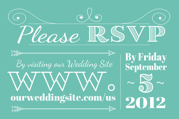 Wedding RSVP by Tbarkley is available from CreativeMarket for $6.