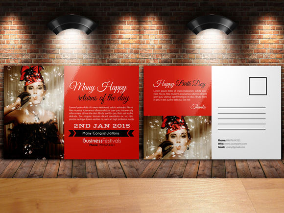 Wedding And Valentine Post Cards by Leza is available from CreativeMarket for $6.