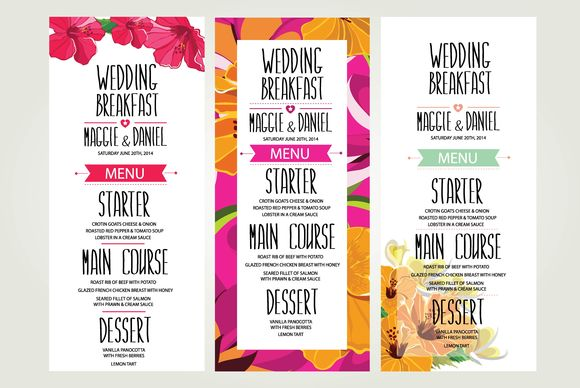 Wedding Dinner Invitations by BarcelonaDesignShop is available from CreativeMarket for $7.