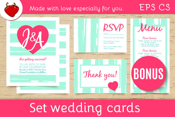 Wedding Invitation Trendly Templates by Klepsidra_day is available from CreativeMarket for $10.