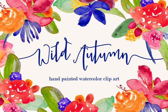 Wild Autumn Watercolor Clip Art by BellaLoveLetters is available from CreativeMarket for $5.