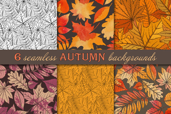 Seamless Autumn Patterns by Fancyart is available from CreativeMarket for $10.
