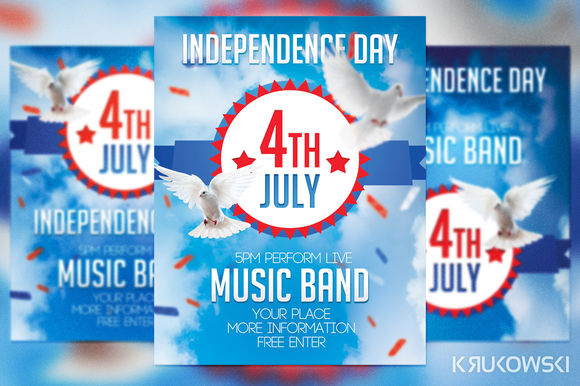 4th July Flyer by Krukowski is available from CreativeMarket for $6.