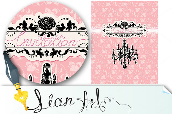 Wedding Invitation Card by Lian-art is available from CreativeMarket for $4.
