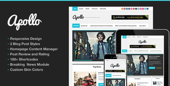 Apollo Modern Magazine Newspaper Template by ThemeGoods is a news magazine WordPress theme which features support for RTL languages, fully responsive layouts, clean design, magazine style layouts, is great for your personal site and minimal design.