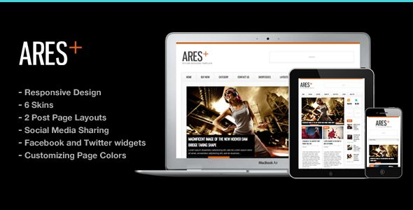 Ares Blog Magazine Newspaper Template by ThemeGoods is a news magazine WordPress theme which features support for RTL languages, fully responsive layouts, search engine optimization, clean design, magazine style layouts, is great for your personal site and minimal design.
