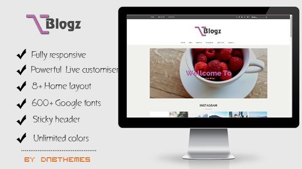 Blogz by Dnbthemes is a great new WordPress theme which features Retina display support, parallax elements, support for RTL languages, fully responsive layouts, Google Fonts support and Bootstrap framework utilization.