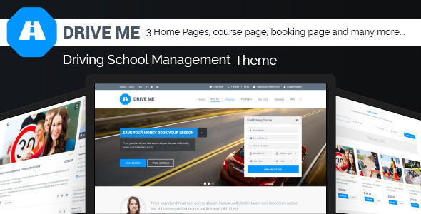 Driveme by Jthemes is a educational WordPress theme which features parallax elements, fully responsive layouts, clean design, Bootstrap framework utilization and a grid layout.