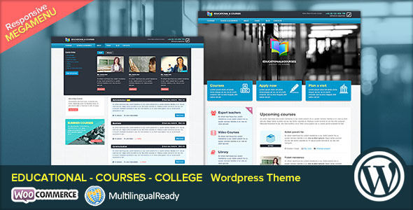 EDU by SmoothThemes is a WordPress theme for colleges and universities which features parallax elements, Mega Menu, fully responsive layouts, Google Fonts support, Revolution Slider and WooCommerce integration.
