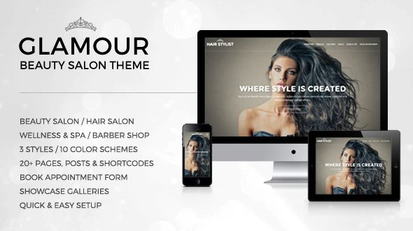 Glamour Beauty WP Theme by Suxess is a great new WordPress theme which features fully responsive layouts, clean design and minimal design.