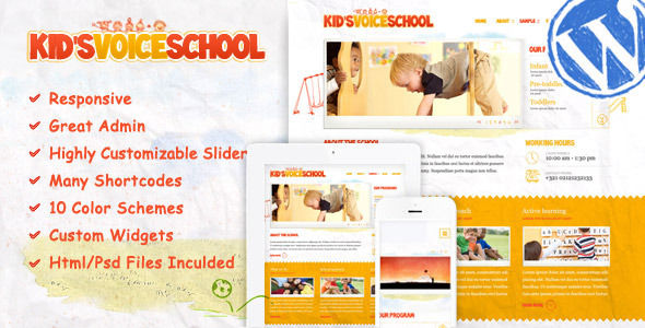 Kids Voice School by Aislin is a educational WordPress theme which features fully responsive layouts, search engine optimization and Colorful.