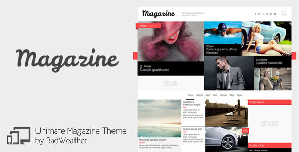 Magazine by Peenapo is a news magazine WordPress theme which features fully responsive layouts and magazine style layouts.
