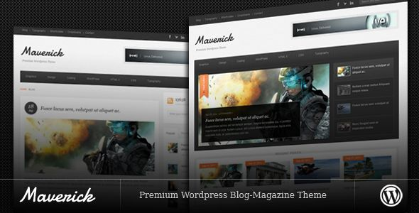 Maverick by Bitsquare is a news magazine WordPress theme which features clean design, can be used for your portfolio, magazine style layouts and blogging related layouts and optimizations.
