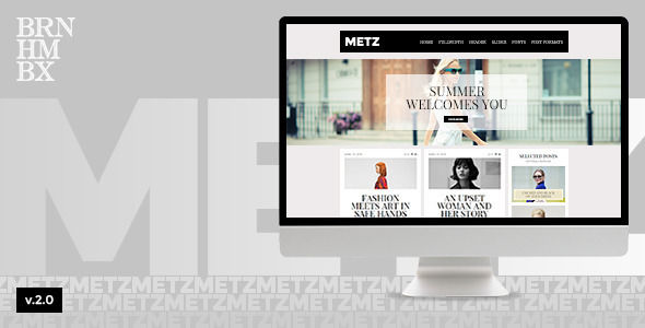 Metz by Burnhambox is a news magazine WordPress theme which features fully responsive layouts, search engine optimization, WooCommerce integration, clean design and magazine style layouts.