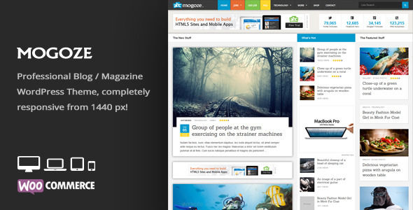 Mogoze by An-Themes is a news magazine WordPress theme which features fully responsive layouts, search engine optimization, WooCommerce integration, support for photo galleries, magazine style layouts and is great for your personal site.