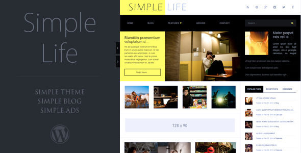 Simple Life by Readactor is a news magazine WordPress theme which features fully responsive layouts, clean design, support for photo galleries and magazine style layouts.