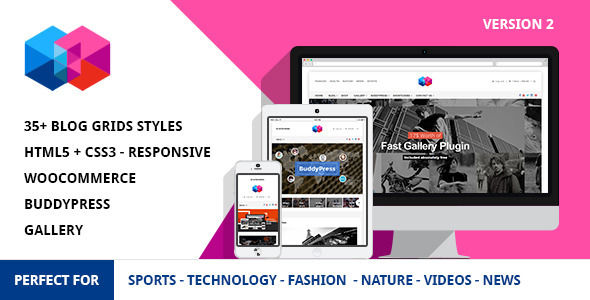 Smew by Softcircles is a news magazine WordPress theme which features Mega Menu, fully responsive layouts, WooCommerce integration, clean design, Bootstrap framework utilization, support for photo galleries, magazine style layouts, is great for your personal site and flat design aesthetics.