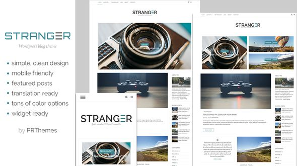 Stranger by Prthemes is a great new WordPress theme which features fully responsive layouts and is great for your personal site.