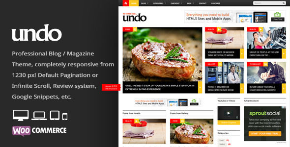 Undo by An-Themes is a news magazine WordPress theme which features fully responsive layouts, search engine optimization, WooCommerce integration, clean design, magazine style layouts and is great for your personal site.