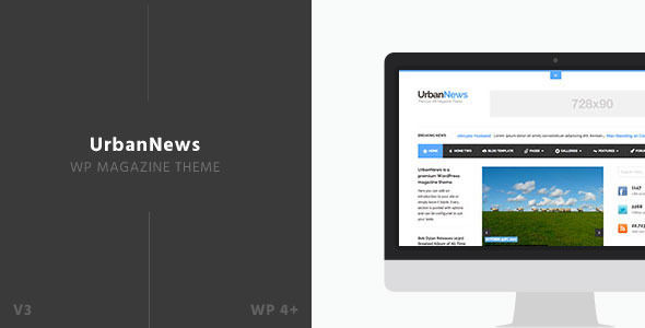 UrbanNews by Siiimple is a news magazine WordPress theme which features support for RTL languages, fully responsive layouts, search engine optimization, support for photo galleries, magazine style layouts and a grid layout.