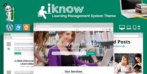 IKnow by CrunchPress is a educational WordPress theme which features parallax elements, fully responsive layouts, Google Fonts support, Revolution Slider, WooCommerce integration, clean design, Bootstrap framework utilization and a grid layout.