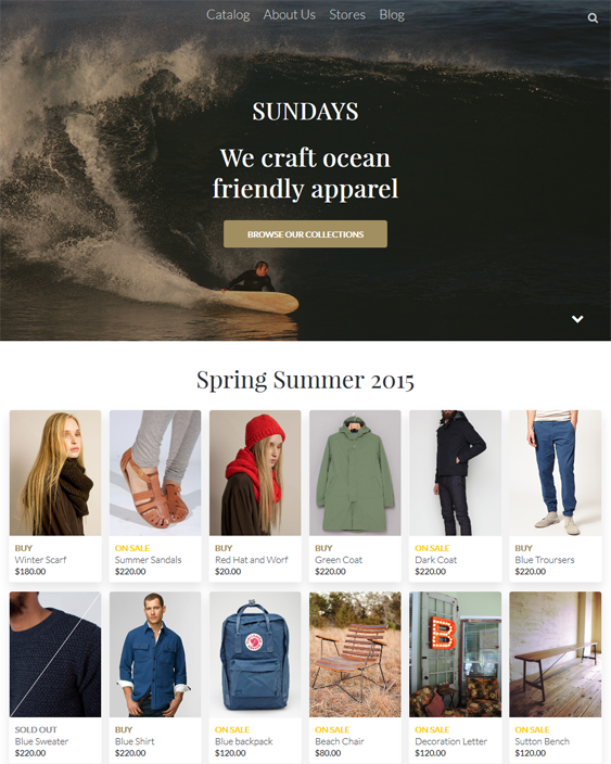 california clean shopify themes