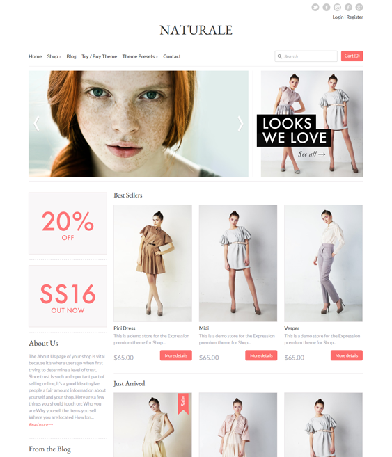 expression apparel clothing shopify themes