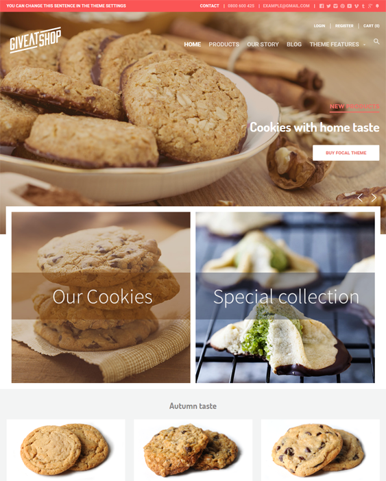 focal food drink shopify themes