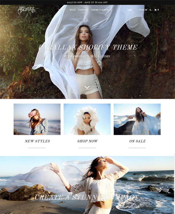parallax apparel clothing shopify themes