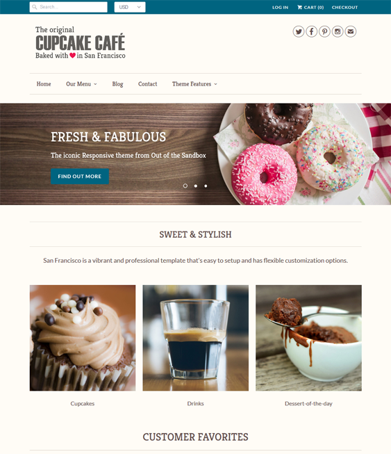 responsive food drink shopify themes
