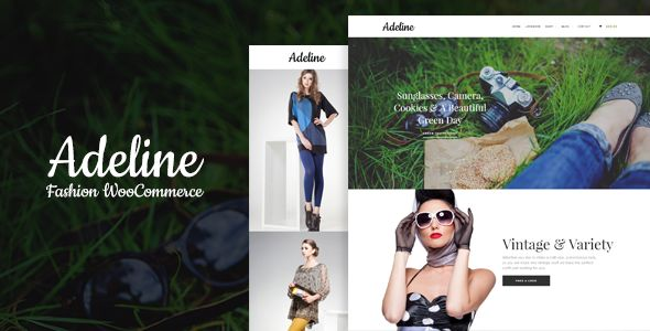 Adeline Fashion by Soluthemes (WordPress theme)