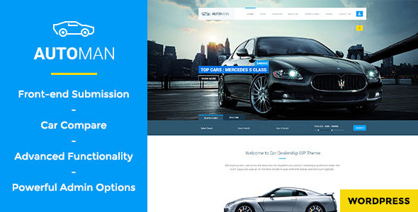 Automan by WPmines is a WordPress theme for automotive websites which features parallax elements, support for RTL languages, one page layouts, fully responsive layouts, Google Fonts support, Revolution Slider, WooCommerce integration, Bootstrap framework utilization and can be used for your portfolio.