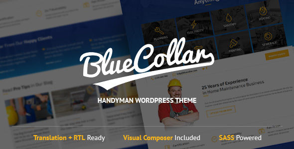 Blue Collar by LSVRthemes (WordPress theme)