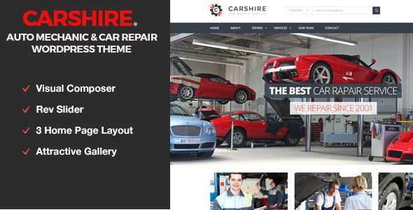 Car Shire by Template_path is a WordPress theme for automotive websites which features parallax elements, fully responsive layouts, Google Fonts support and Bootstrap framework utilization.