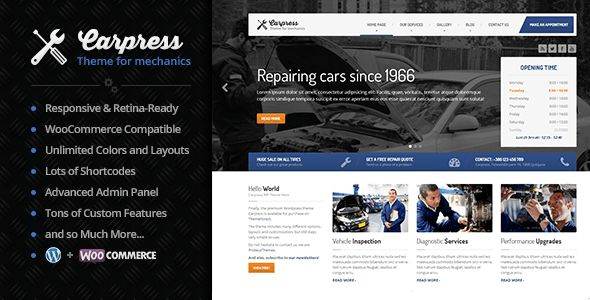 CarPress by ProteusThemes (WordPress theme)