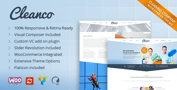 Cleanco by DeTheme (WordPress theme)