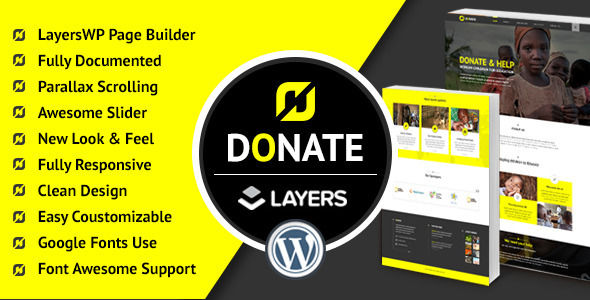 Donate by Ewebcraft (WordPress theme)